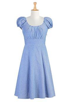 Classic chambray dress