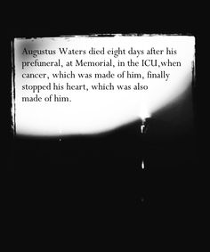 Tfios spoilers quot augustus water died eight days after his prefuneral