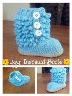 Furry Ugg Inspired Boots by ChicCrochetBoutique on Etsy, $25.00