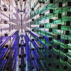#aluminium #art #perspective #dusseldorf #lighting #contemporaryart #contemporary #metal #colors #structure #germany