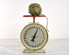 Vintage Rustic Metal Kitchen Scale by havenvintage on Etsy, $36.00