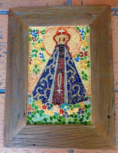 Mosaic Art, Mosaic Glass, Mosaic Tiles, Stained Glass, I Love You Mother, Holy Mary, Art Thou, Art Classroom, Hobbies And Crafts