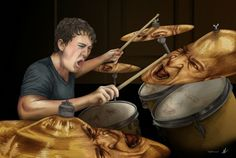 AVAILABLE ON SOCIETY6  Whiplash illustration by Kitty Rouge  Directed by Damien Chazelle; starring Miles Teller & JK Simmons