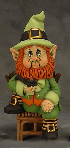 Meet Larkin, a favorite leprechaun gnome for all the Irish people and those who love St. Pattie's Day.