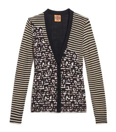 The Tory Burch Brady cardigan: It's the classic cardigan with an ultra-stylish update — a brilliant print.