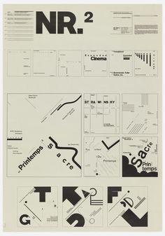 Typographic Process  No 2 — Wolfgang Weingart (1971-1974)