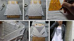 BCN Cover Girl: DIY: estampado geometrico en camiseta