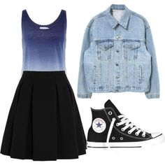 A fashion look from February 2015 featuring Velvet tops, By Malene Birger mini skirts and Converse sneakers. Browse and shop related looks.