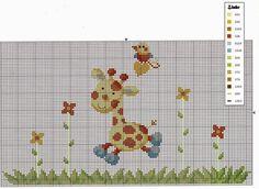 Giraffe borders 3 of 3 Cross Stitch For Kids, Cross Stitch Cards, Cross Stitch Baby, Cross Stitch Animals, Cross Stitching, Cross Stitch Embroidery, Embroidery Patterns, Cross Stitch Gallery, Cross Stitch Designs
