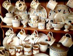 Emma Bridgewater Rise and Shine, Cambridge Blue, Stones, Egg and Feather and Birds Emma Bridgewater Pottery, Love You Dad, Farm Yard, Blue Stones, Mugs, Dressers, Cambridge, Tableware, Feather