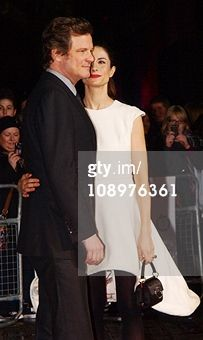 Livia Firth wearing a Henrietta Ludgate dress on the red carpet.