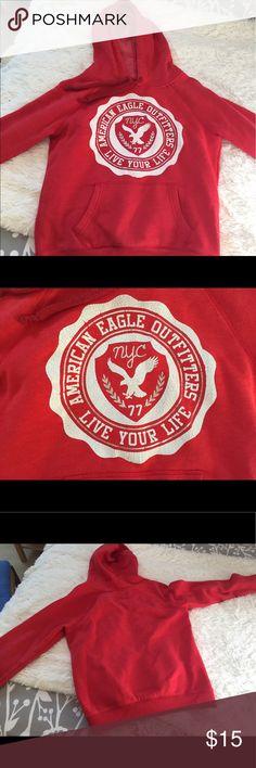 American Eagle Hoodie Casual red sweatshirt from American Eagle. American Eagle Outfitters Tops Sweatshirts & Hoodies