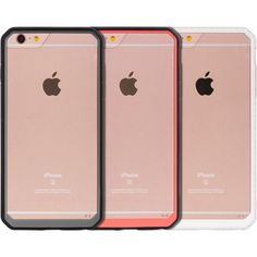 Apple Iphone 6 Plus/6S Plus Black/ Fusion Candy Case with Dual Color TPU Frame with Transparent Pc #PH-FTCIP6SL-DCF-BK
