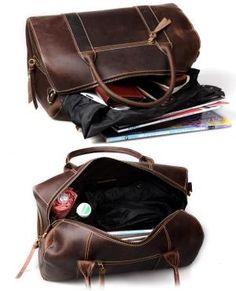 Handmade Vintage Leather Travel Bag / bolsa de couro / couro Messenger Bag / Tote / Overnight Bag / Saco-semana Cosmetic Bag / por Lynn Tan