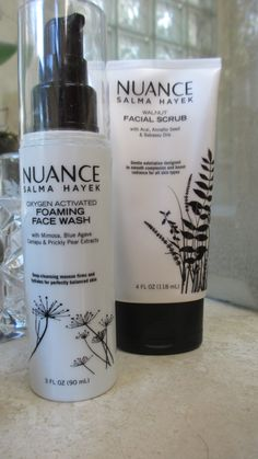 """Salma Hayek knows skincare-or at least she has """"people"""" that do! Love her Nuance products available at (wait for it) drugstores."""
