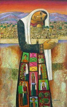 Latroun, Palestine) Nabil Anani is a key founder of the contemporary Palestinian art movement. Anani studied Fine Art at Alexandria University. Terra Santa, Palestine Art, Modern Art, Contemporary Art, Arabian Art, Art Themes, Arabesque, Islamic Art, Creative Art