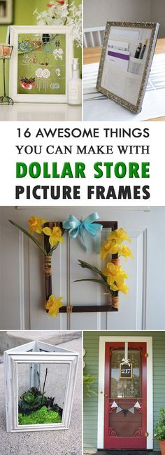 16 Awesome Things You Can Make With Dollar Store Picture Frames. 16 Awesome Things You Can Make With Dollar Store Picture Frames. Did you know that dollar store picture frames have more uses than just frame your pictures? Dollar Store Hacks, Dollar Store Gifts, Dollar Store Christmas, Dollar Stores, Dollar Store Decorating, Dollar Tree Frames, Dollar Tree Decor, Tree Crafts, Diy And Crafts