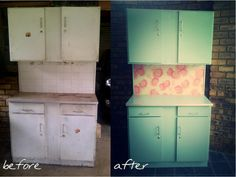 Revamped steel cupboard by {Bezoo} Steel Cupboard, Before And After Pictures, Kitchen Cabinets, Furniture, Home Decor, Life, Steel Wardrobe, Decoration Home, Room Decor