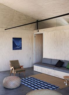 Camping Lite: A Plywood Camp House in Scarborough, South Africa - Remodelista Kids Bedroom Furniture, Space Saving Furniture, Furniture Design, Living Furniture, Fine Furniture, Furniture Stores, Cheap Furniture, Cabinet D Architecture, Interior Architecture