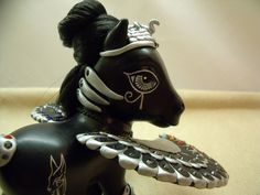 "Custom My Little Pony by ""lovelauraland"" on Deviantart. A black Egyptian Queen, very good!"