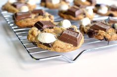 Easy to make s'mores hershey chocolate cookies! My Christmas must-bakes