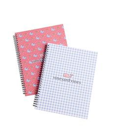 Shop Crab/Gingham Large Notebook Set at vineyard vines