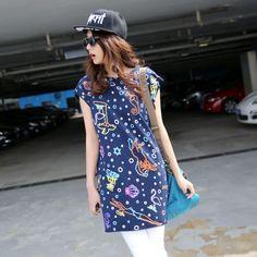 navy   white  kawaii pop kei harajuku k fashion j fashion fachin top tshirt under10 under20 under30 asia fashion wholesale