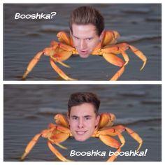 The crab face made by Kian Lawley and Ricky Dillon!!!!!!! Hahhaa I love this me and my friend Mary do this all the time