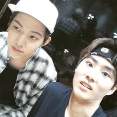 Dowoon and YoungK (YoungK your face though)
