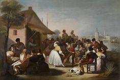Francisco de Paula Escribano. Un baile en Triana, 1850. Colección Carmen Thyssen-Bornemisza en préstamo gratuito al Museo Carmen Thyssen Málaga