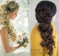 Wedding Hairstyles Half Up Half Down and to the Side #weddinghairstylestotheside #weddinghairstyleshalfuphalfdown