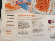 Check this carrot recipe out 😃