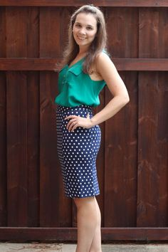 Stitch Fix July 2014 Review on Spoonful of Flavor - Pomelo June Polka Dot Skirt!