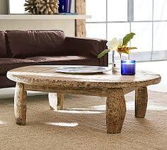 Bullock Cart Wheel Coffee Table End Tables & Sofa Tables | Pottery Barn