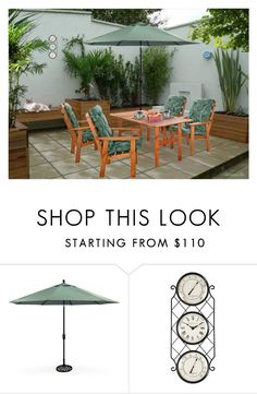 """""""MORNING COFFEE ON THE PATIO"""" by arjanadesign ❤ liked on Polyvore featuring interior, interiors, interior design, home, home decor, interior decorating, PLANT, Home, patio and exterior"""