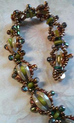 Crescent triangle bracelet