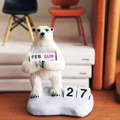 デスクトップカレンダー polar bear