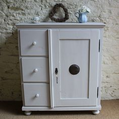 Victorian Distressed Food Cupboard