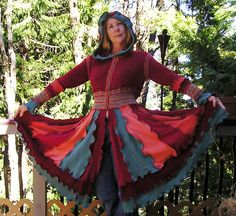 Beautiful Recycled Sweater Coat Made from by VintageDesignByVines, $150.00