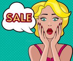 Woman Speech Bubble Sale by robuart on @creativemarket