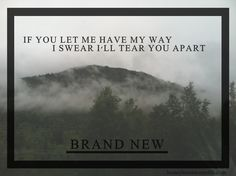Brand New Lyrics : Photo