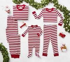 Classic Stripe Baby Christmas Pajamas | Pottery Barn Kids