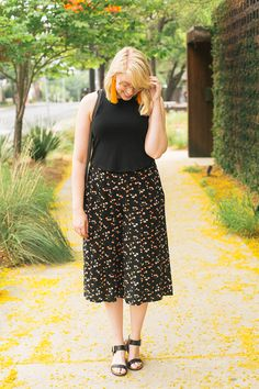 spring/summer outfit inspiration in culottes and a crop top