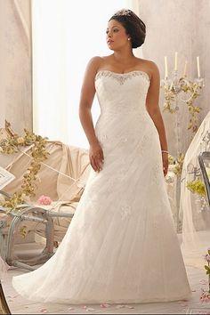 Plus size trouwjurk van het bijzondere merk Mori Lee! Deze bruidsjurk komt uit de Julietta collectie.