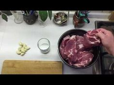 Rychlouzení krkovičky - YouTube Meat, Youtube, Food, Essen, Meals, Youtubers, Yemek, Youtube Movies, Eten