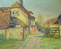 Farm Buildings, Duncan Grant (1885–1978), Buxton Museum & Art Gallery