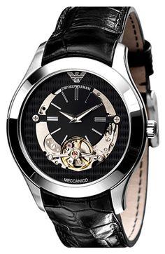 Emporio Armani 'Meccanico' Automatic Round Watch - $395.00