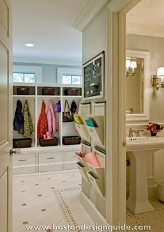 Love this organized mudroom!  but want these wall files in my kitchen!