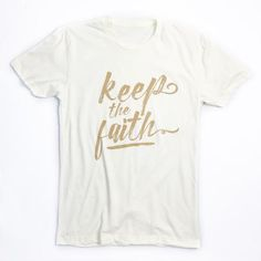 I have fought the good fight, I have finished the race, I have kept the faith. 2 Timothy 4:7 This is a super-soft unisex t-shirt with our Keep The Faith design. FIT: Unisex - Runs true to size. *Natur More