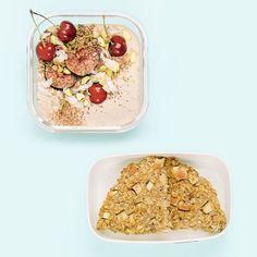 Einmal vorbereiten, drei verschiedene Frühstücksideen to go genießen. Und gesund sind die Gerichte obendrein! Baked Oatmeal, Smoothie Bowl, Meal Prep, Meals, Baking, Breakfast, Food, Smoothie Recipes, Souffle Dish